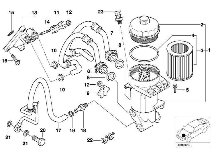11_2821 Смазочная система-масляный фильтр
