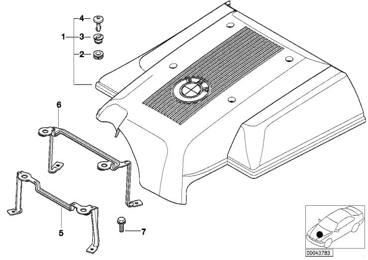 11_2822 Звукоизоляционный кожух двигателя