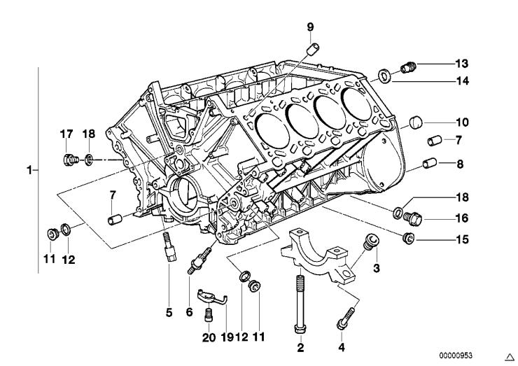 11_1524 Блок-картер двигателя