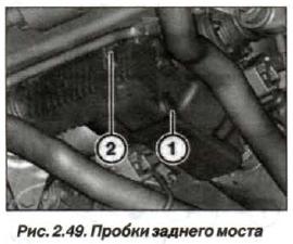 Рис. 2.49.Пробки заднего моста