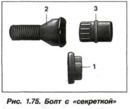 Рис. 1.75. Болт с «секреткой»