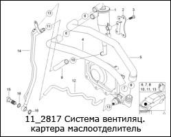 11_2817-Система-вентиляц.картера-маслоотделитель
