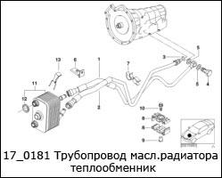 17_0181-Трубопровод-масл.радиатора-теплообменник