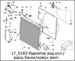 17_0183-Радиатор-вод.охл.--расш.бачок-кожух-вент.