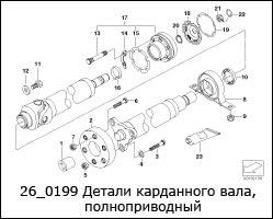 26_0199-Детали-карданного-вала,-полноприводный