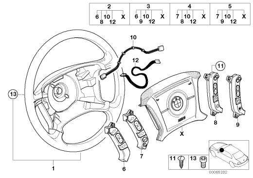 32_1189 Многофункциональное рулевое колесо с НПБ