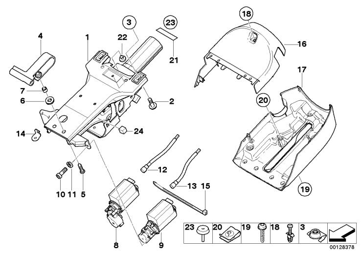 32_1197 Рулевая колонка с электроприводом