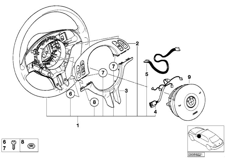 32_1217 Многофункц.спортив.рулевое колесо с НПБ