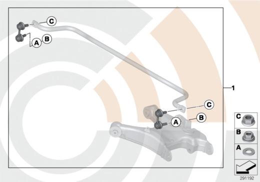 33_1680 Ремкомплект стойки штанги стабилизатора