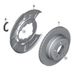 34_1052 Тормозной диск торм.механ.заднего колеса