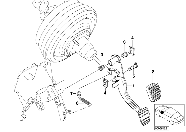 35_0259 Опорный кронштейн педали/педаль тормоза