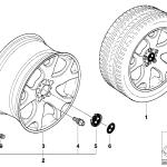 36_0420 Л/с диск BMW с V-образными спицам 63