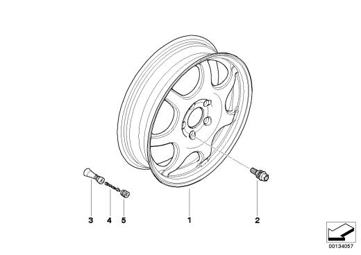 36_0444 Аварийное колесо легкосплавное