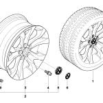 36_0902 Л с диск BMW c Y-образными спицами 183