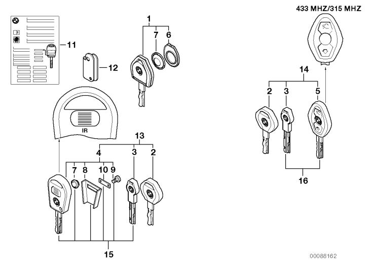 41_1621 Ключ с аккумулятором (с 09/1999)