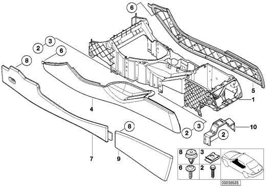 51_3753 Центральная консоль