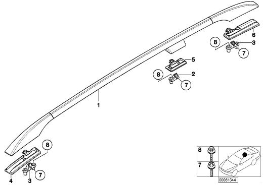 51_4141 Декоративная планка крыши/леер