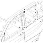 51_6025 Накладки и уплотнения двери Пд