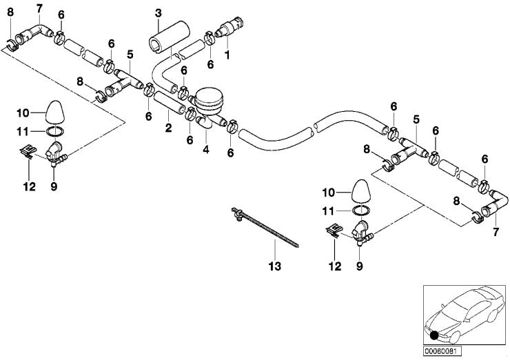 61_1326 Детали системы омывателей фар