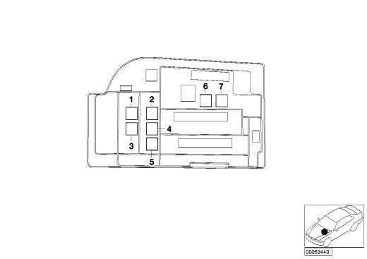 61_1339 Расположение реле в моторном отсеке