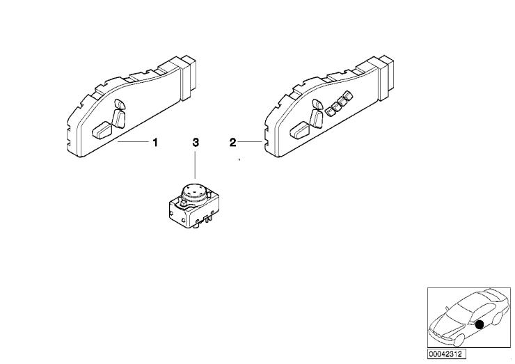 61_1348 Выключатель регулировки полож.сиденья