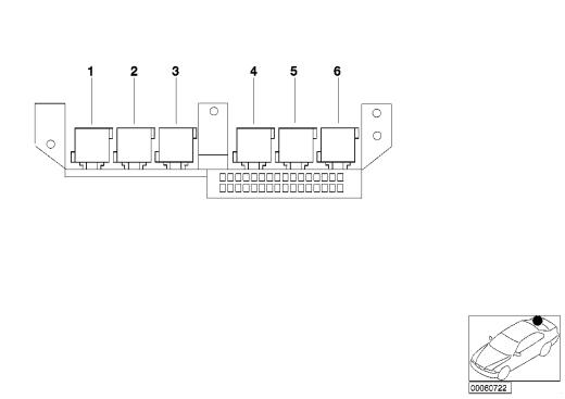 61_1362 Расположение реле в багажном отделении