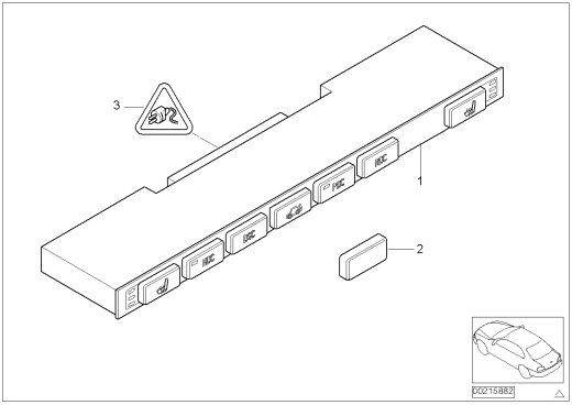 61_2116 Блок переключателей в центр.консоли