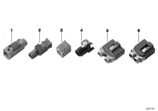 61_2680 Рем.детали коаксиального провода, корпус