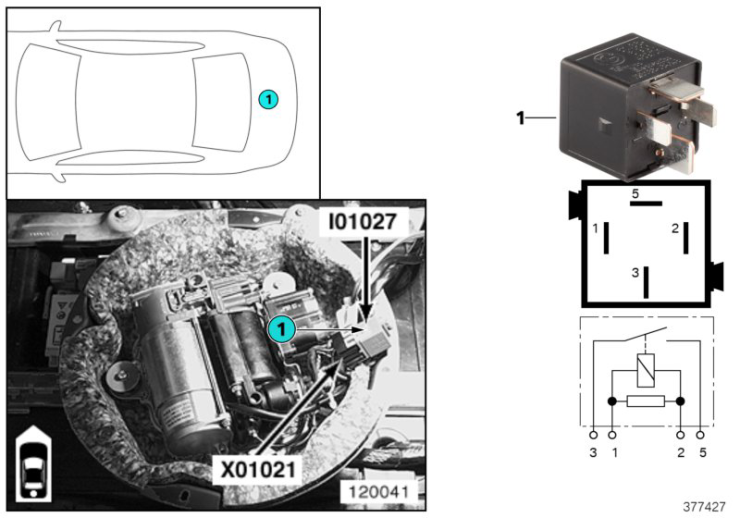 61_4058 Реле компрессорного насоса I01027