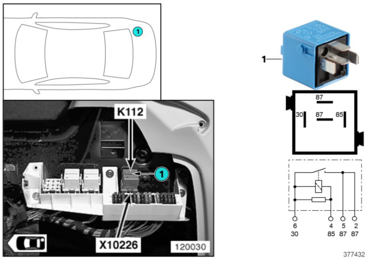 61_4063 Реле привода крышки багажника K112