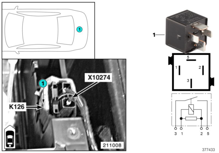 61_4064 Реле компрессора пневм.подвески K126