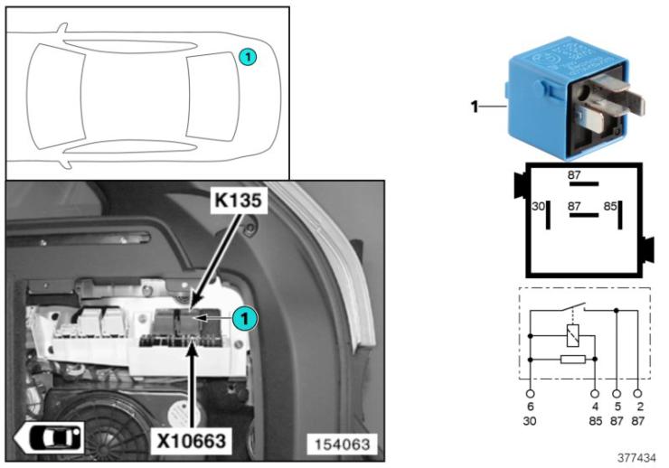 61_4065 Реле регулировки положения сиденья K135