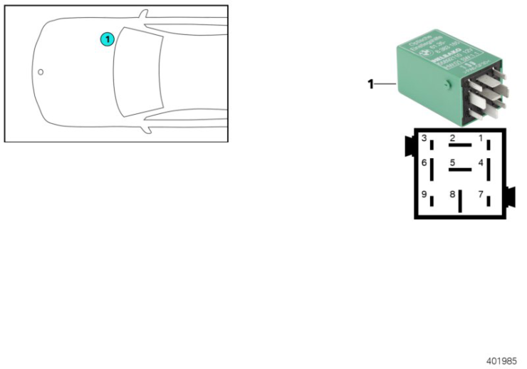 61_4478 Реле подсветки нар.ручки двери зеленой