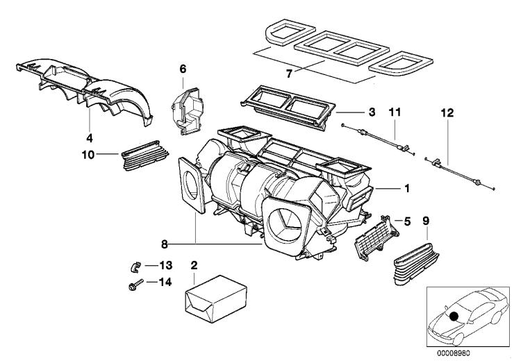 64_1372 Детали корпуса автомат.сист.кондиционир.
