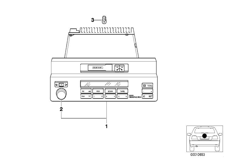 65_1055 Радиоприемник BMW Reverse RDS