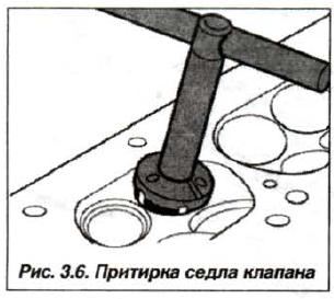 Рис. 3.6. Притирка седла клапана