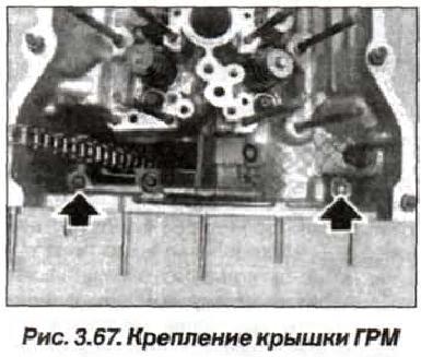 Рис. 3.67. Крепление крышки ГРМ