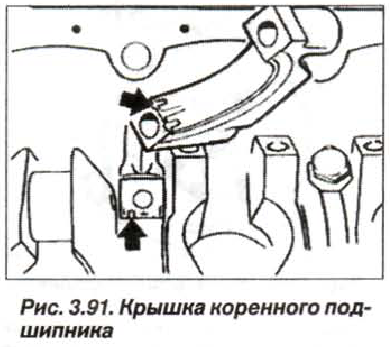 Рис. 3.91. Крышка коренного подшипника