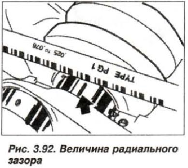Рис. 3.92. Величина радиального зазора