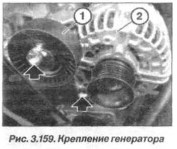 Рис. 3.159. Крепление генератора