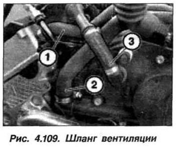 Рис. 4.109. Шланг вентиляции БМВ Х5 Е53 М62