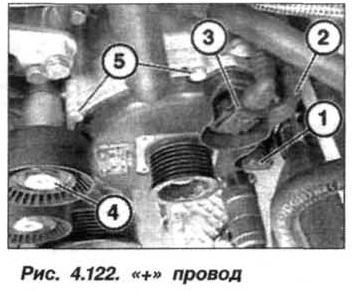 Рис. 4.122. + провод БМВ Х5 Е53 М62