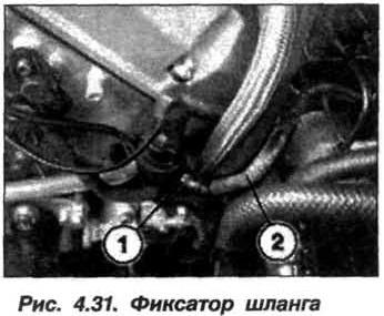 Рис. 4.31. Фиксатор шланга БМВ Х5 Е53