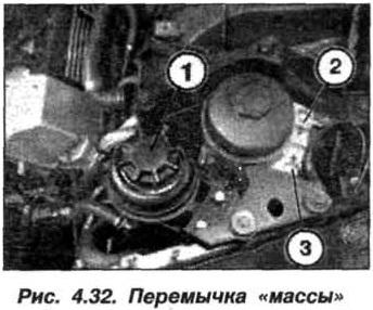 """Рис. 4.32. Перемычка """"массы"""" БМВ Х5 Е53"""
