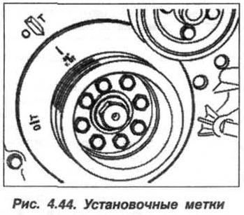 Рис. 4.44. Установочные метки БМВ Х5 Е53 М62
