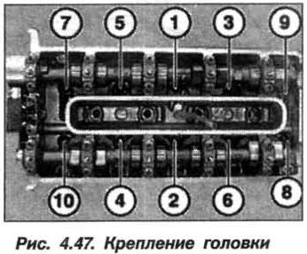 Рис. 4.47. Крепление головки БМВ Х5 Е53 М62