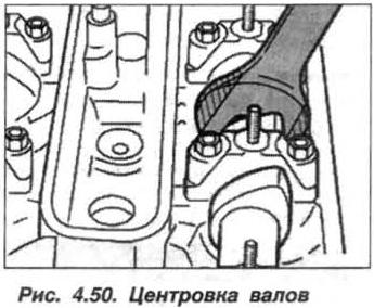 Рис. 4.50. Центровка валов БМВ Х5 Е53 М62