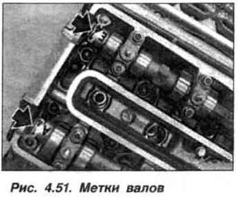 Рис. 4.51. Метки валов БМВ Х5 Е53 М62