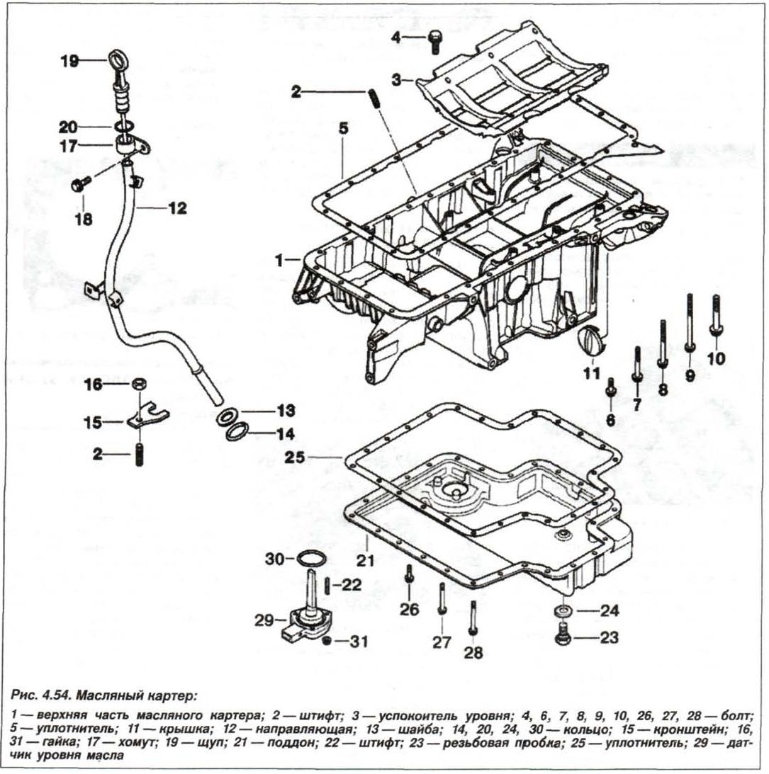 Рис. 4.54. Масляный картер БМВ Х5 Е53 М62