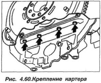Рис. 4.60. Крепление картера БМВ Х5 Е53 М62